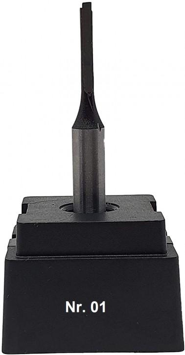 NR 01 / HM - Oberfräser Nutfräser Z= 1 D= 4,0 x NL 20,0 mm mit HM - Grundschneide Schaft 8,0 x 32mm