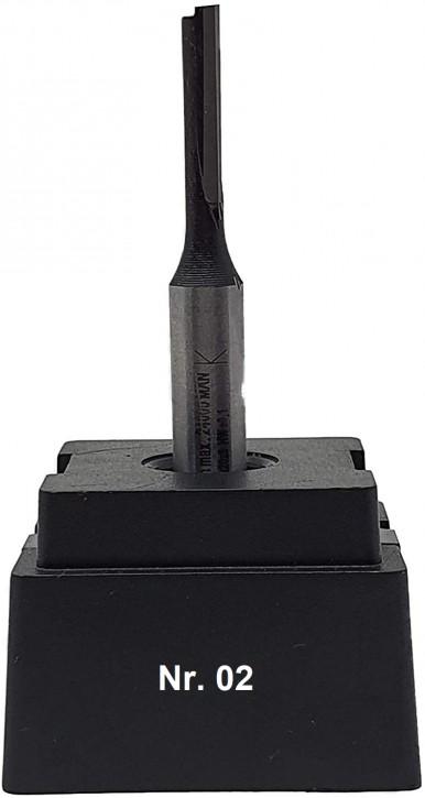 NR 02 / HM - Oberfräser Nutfräser Z= 1 D= 5,0 x NL 20,0 mm mit HM - Grundschneide Schaft 8,0 x 32mm
