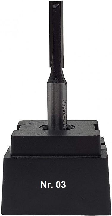 NR 03 / HM - Oberfräser Nutfräser Z= 2 D= 6,0 x NL 25,0 mm mit HM - Grundschneide Schaft 8,0 x 32mm