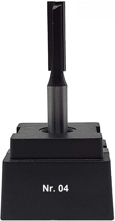 NR 04 / HM - Oberfräser Nutfräser Z= 2 D= 7,0 x NL 25,0 mm mit HM - Grundschneide Schaft 8,0 x 32mm
