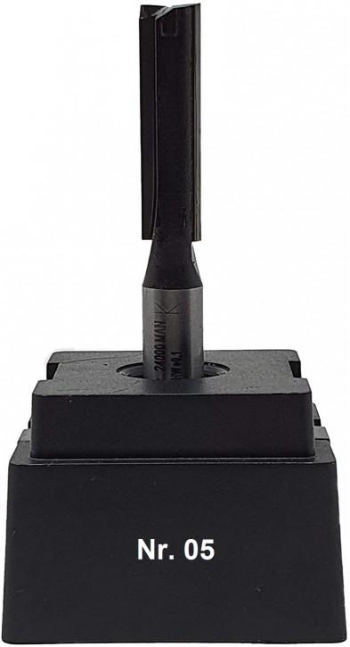 NR 05 / HM - Oberfräser Nutfräser Z= 2 D= 8,0 x NL 30,0 mm mit HM - Grundschneide Schaft 8,0 x 32mm