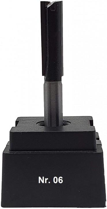 NR 06 / HM - Oberfräser Nutfräser Z= 2 D= 9,0 x NL 30,0 mm mit HM - Grundschneide Schaft 8,0 x 32mm