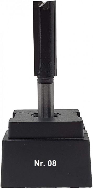 NR 08 / HM - Oberfräser Nutfräser Z= 2 D=11,0 x NL 35,0 mm mit HM - Grundschneide Schaft 8,0 x 32mm