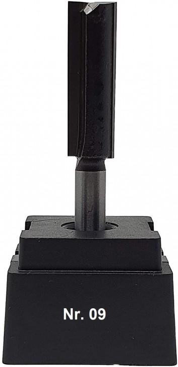 NR 09 / HM - Oberfräser Nutfräser Z= 2 D=12,0 x NL 38,0 mm mit HM - Grundschneide Schaft 8,0 x 32mm