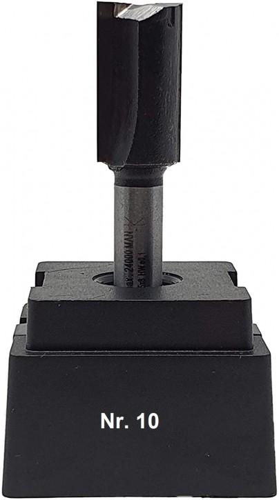 NR 10 / HM - Oberfräser Nutfräser Z= 2 D= 14,0 x NL 25,0 mm mit HM - Grundschneide Schaft 8,0 x 32mm