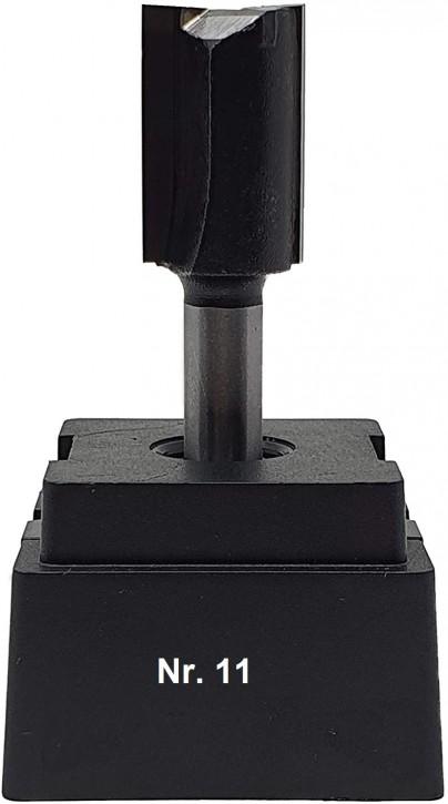 NR 11 / HM - Oberfräser Nutfräser Z= 2 D= 16,0 x NL 25,0 mm mit HM - Grundschneide Schaft 8,0 x 32mm