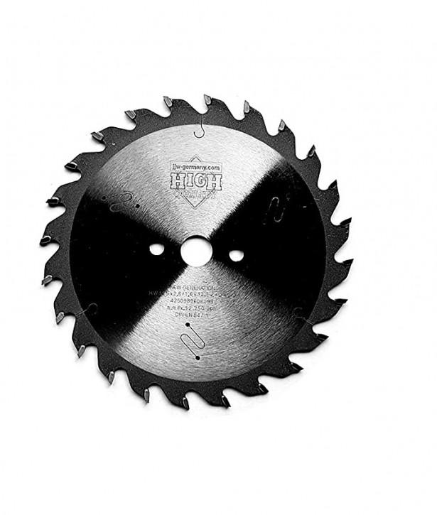 HM - Sägeblatt 125 x 2,6 x 12,7 Z= 24 WZ für Black & Decker / Skil