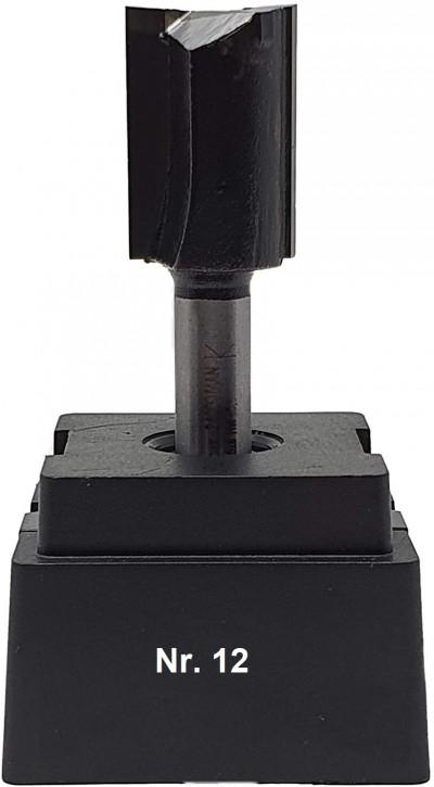 NR 12 / HM - Oberfräser Nutfräser Z= 2 D= 17,0 x NL 25,0 mm mit HM - Grundschneide Schaft 8,0 x 32mm