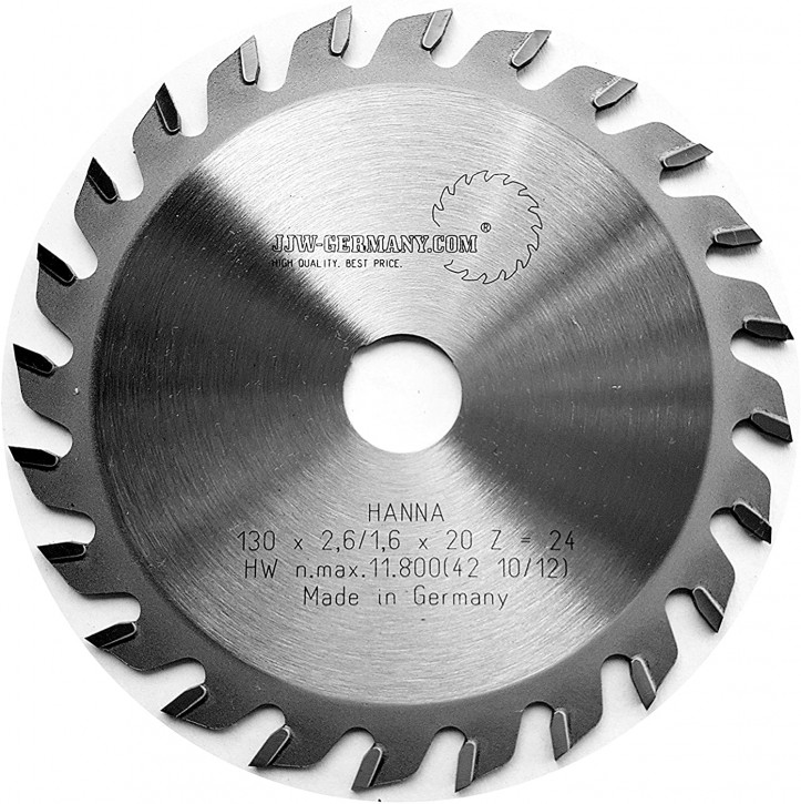 HM – Kreissägeblatt Hanna 130 x 20 Z= 24 WZ für Handkreissägen