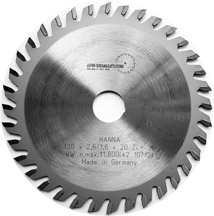 HM – Kreissägeblatt Hanna 130 x 20 Z= 36 WZ für Handkreissägen