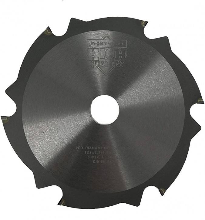 PKD - Diamant Sägeblatt 135 x 2,2 x 20 Z= 6 FL für zementgebundene Faserplatten o. abrasive Werkstoffe
