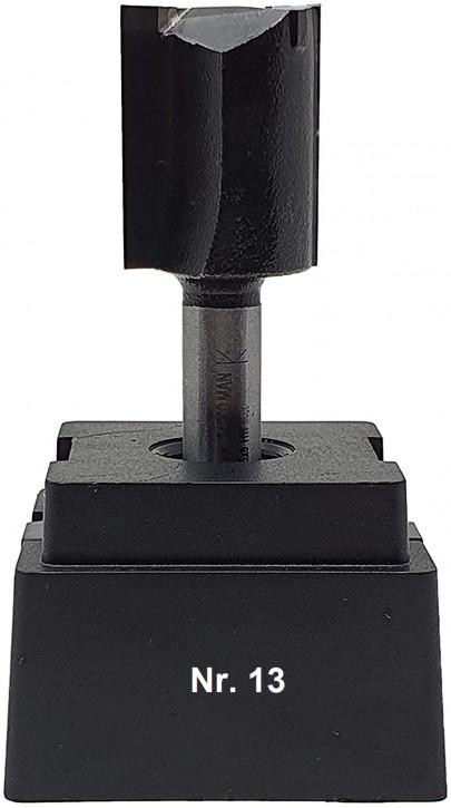 NR 13 / HM - Oberfräser Nutfräser Z= 2 D= 20,0 x NL 25,0 mm mit HM - Grundschneide Schaft 8,0 x 32mm