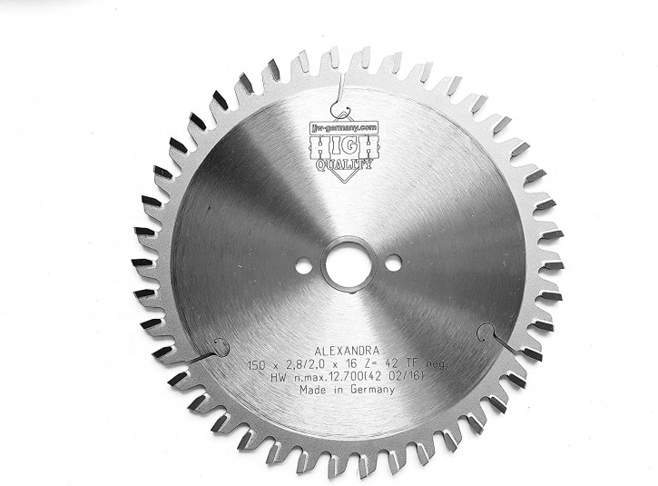 HM – Kreissägeblatt Alexandra 150 x 16 Z= 42 TF Multi Material