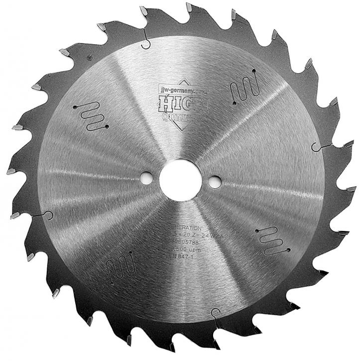 HM - Sägeblatt 160 x 2,2 x 20 Z= 24 WZ, für Festool, Mafell, Industriequalität nach DIN EN 847-1