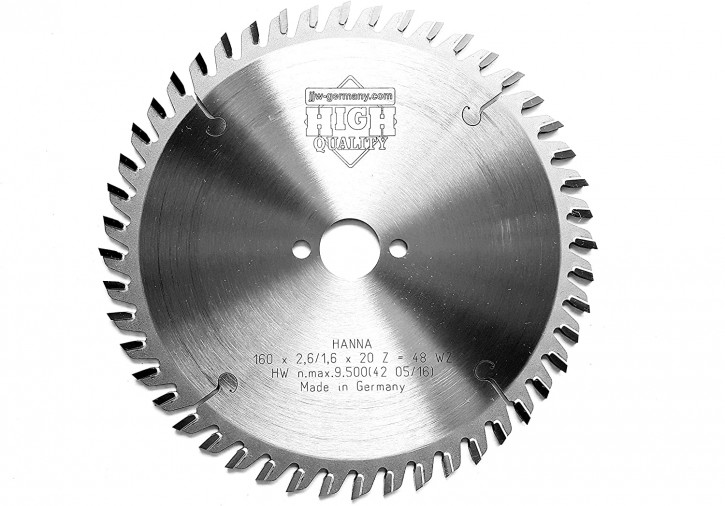 HM – Kreissägeblatt Hanna 160 x 20 Z= 48 WZ für Handkreissägen