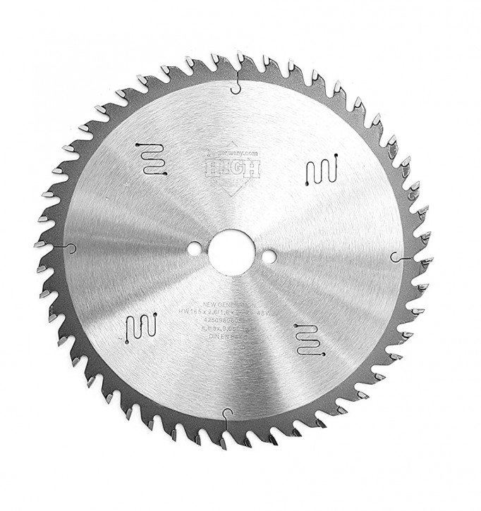 HM - Sägeblatt 165 x 2,6 x 20 mm mit 48 HM-Zähnen WZ, Industriequalität nach DIN EN 847-1