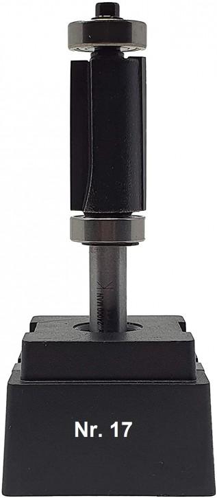NR 17 / HM - Oberfräser Doppelbündigfräser Z= 2 D= 16 x NL 30 mm Schaftkugellager und Stirnkugellager Schaft 8,0 x 32mm