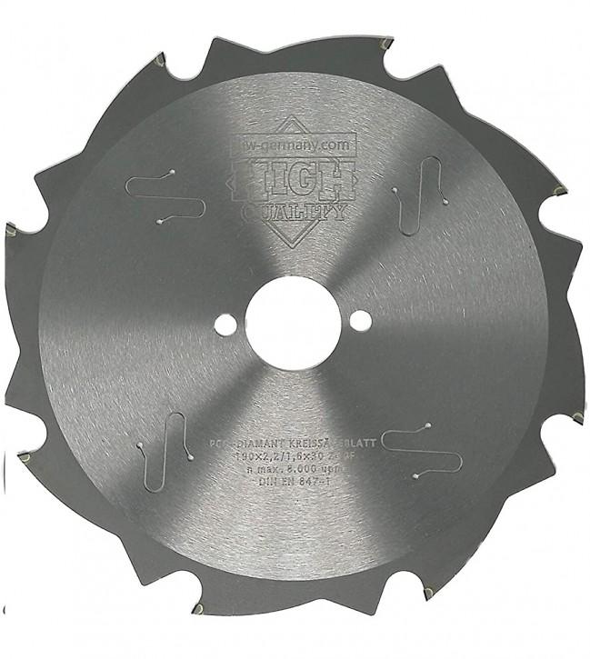 PKD - Diamant Sägeblatt 190 x 2,2 x 30 Z= 8 FL für zementgebundene Faserplatten o. abrasive Werkstoffe