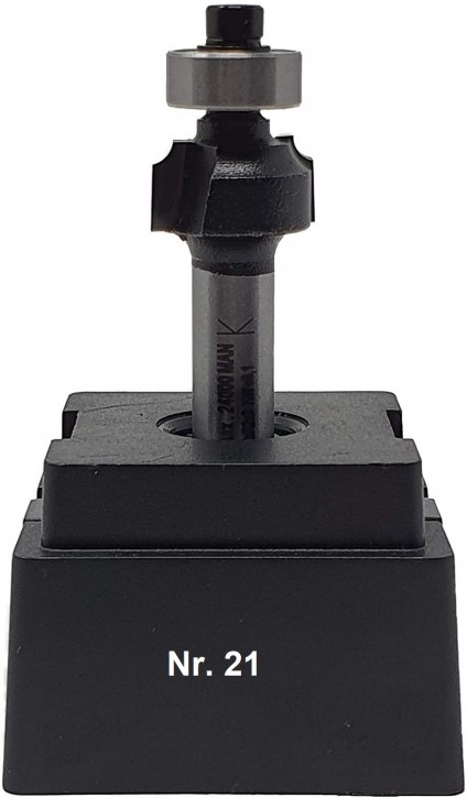 NR 21 / HM - Oberfräser Abrundfräser Z= 2 D= 16,0mm Radius 2,0mm, Schaft 8,0 x 32mm