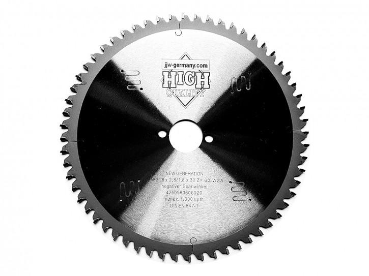 HM Sägeblatt 216 x 2,8 x 30 mit 60 Zähnen Wechselzahn negativ, Industriequalität nach DIN EN 847-1