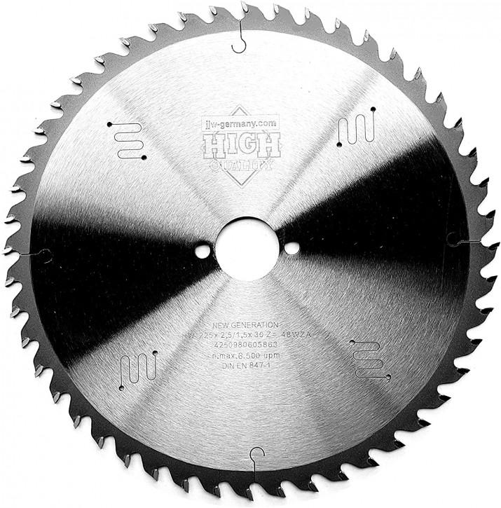 HM - Sägeblatt 225 x 2,5 x 30 Z= 48 WZ f. Mafell oder Festool, Industriequalität nach DIN 847-1