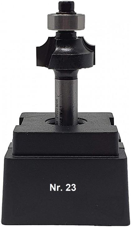 NR 23 / HM - Oberfräser Abrundfräser Z= 2 D= 22,0mm Radius 4,0mm Schaft 8,0 x 32mm