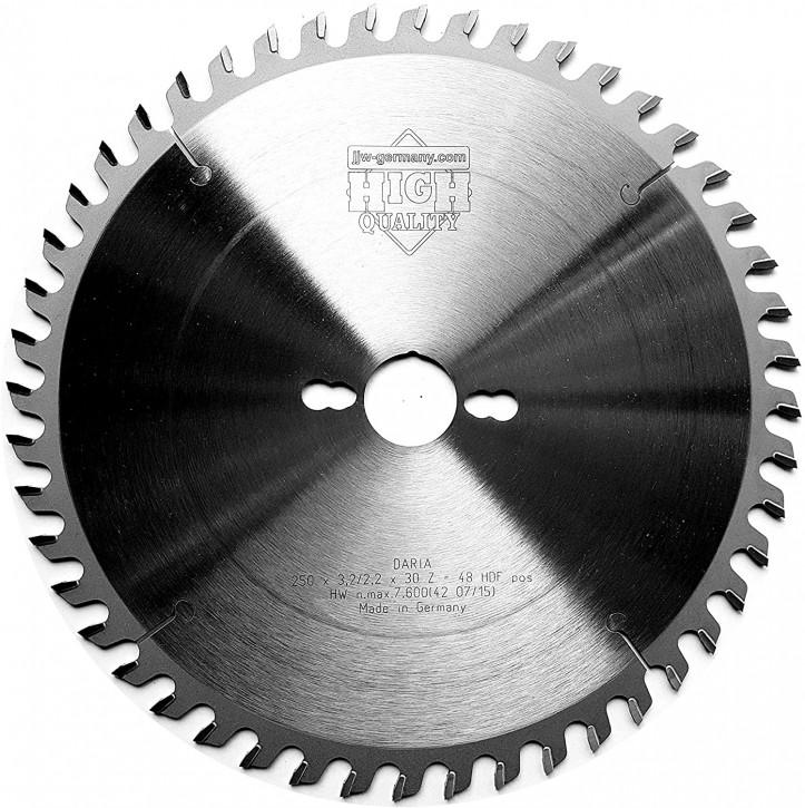 HM – Kreissägeblatt Daria 250 x 30 Z= 48 DH für beschichtete Platten