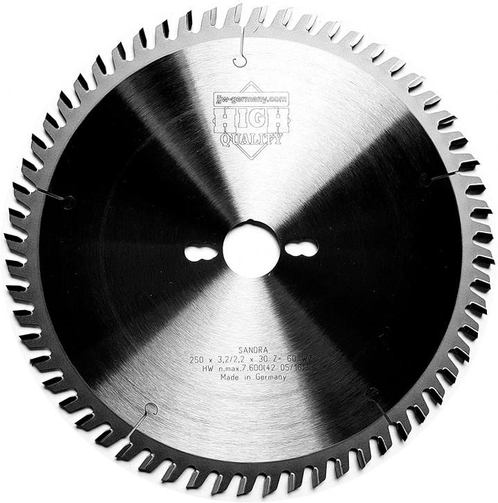 HM - Kreissägeblatt Sandra 250 x 30 Z= 60 WZ für Tisch oder Formatkreissäge