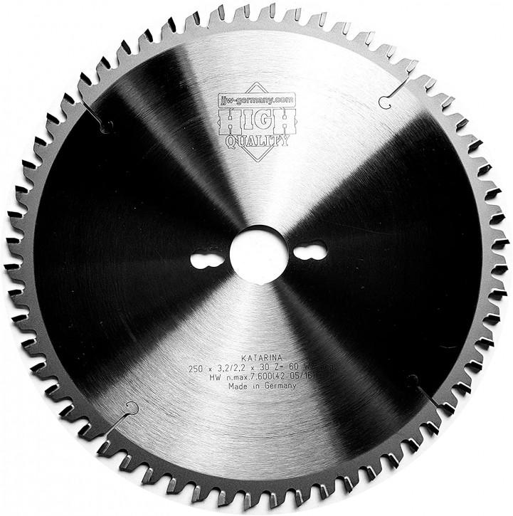 HM – Kreissägeblatt Katarina 250 x 30 Z= 60 WZ negativ für Kapp und Gehungssägen
