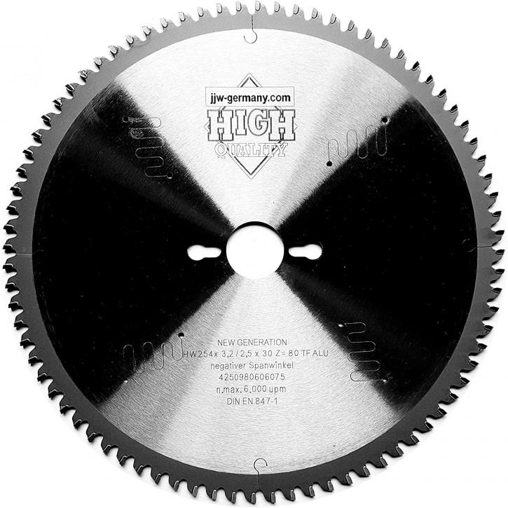 HM-Kreissägeblatt 254 x 2,8 x 30 mit 80 HM Zähnen TF MULTI MATERIAL f. Metabo KGS 254 M und Metabo KGS 254 M plus