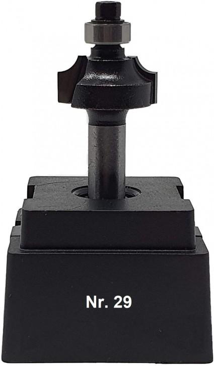 NR 29 / HM - Oberfräser Viertelstabfräser Z=2 D= 22,0 mm / Radius 4,0mm Schaft 8,0 x 32mm