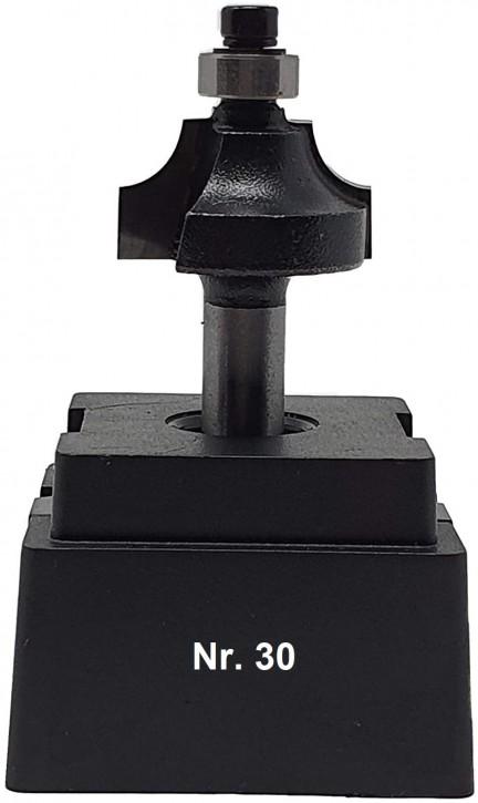 NR 30 / HM - Oberfräser Viertelstabfräser Z= 2 D= 26,0mm / Radius 6,0mm Schaft 8,0 x 32mm