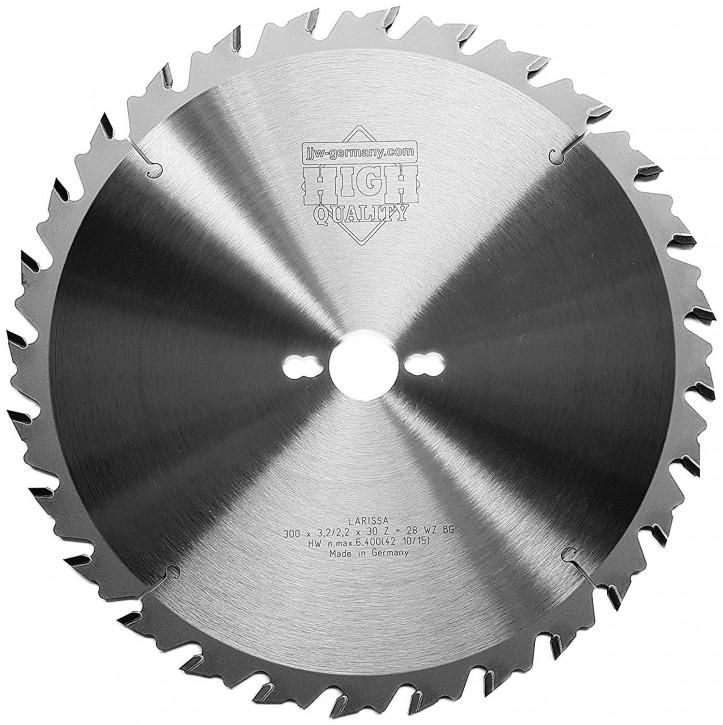 HM – Kreissägeblatt Larissa 300 x 30 Z= 28 WZ BG für Holzzuschnitte/Brennholz