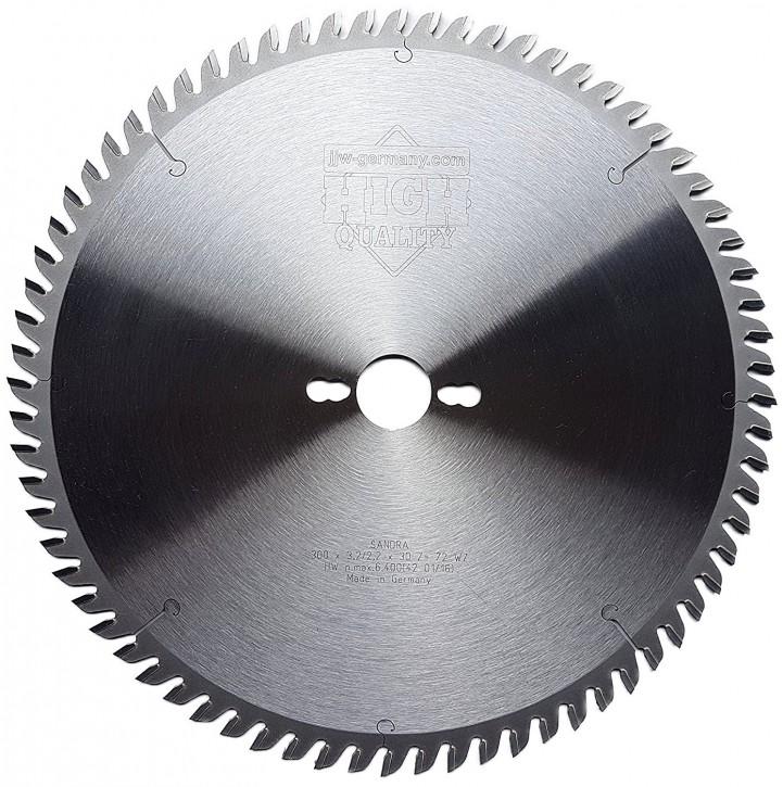 HM - Kreissägeblatt Sandra 300 x 30 Z= 72 WZ für Tisch oder Formatkreissäge