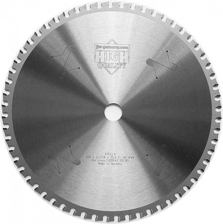 HM – Kreissägeblatt Stella 305 x 25,4 Z= 60 WWF für Stahl, Winkeleisen, Baustahl