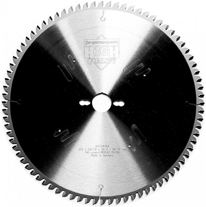 HM – Kreissägeblatt Katarina 305 x 30 Z= 80 TF negativ für Kapp und Gehrungssägen