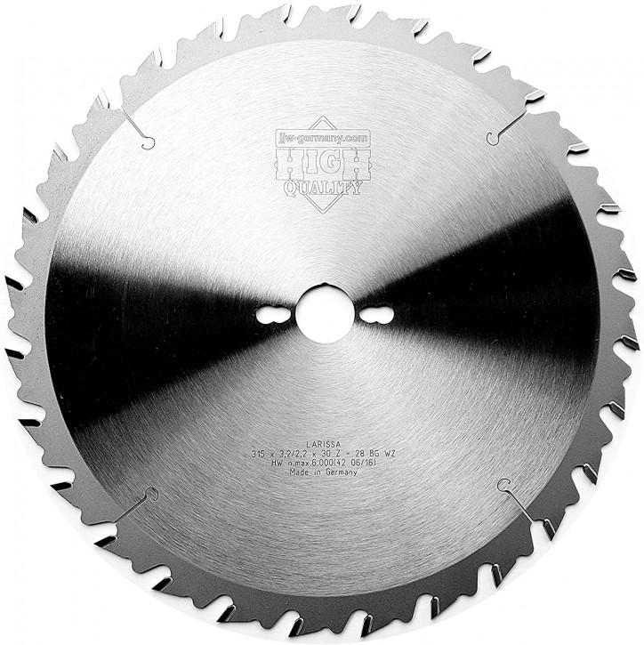 HM – Kreissägeblatt Larissa 315 x 30 Z= 28 WZ BG für Holzzuschnitte