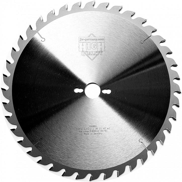 HM – Kreissägeblatt Hanna 330 x 3,2 x 30 Z= 40 WZ speziell für Mafell