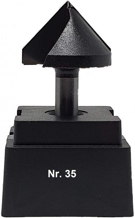 NR 35 / HM - Oberfräser V-Nutfräser Z=2 D= 32,0mm x Nutzlänge 22,0mm / 90 Grad Schaft 8,0 x 32mm