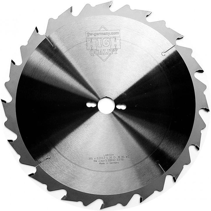 HM – Kreissägeblatt Larissa 350 x 30 Z= 16 FZ BG für Holzzuschnitte/Längsschnitt