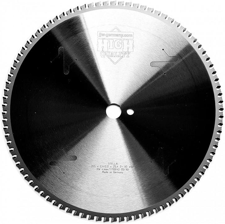 HM – Kreissägeblatt Stella 355 x 25,4 Z= 90 WWF für Stahl, Winkeleisen, Baustahl
