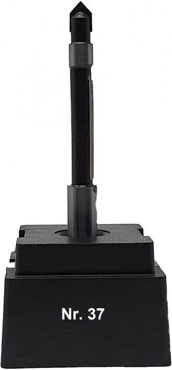NR 37 / HM - Oberfräser Kopier- und Ausstechfräser Z= 1 D= 6,4 x NL 25,0 mm Schaft 8,0 x 32mm