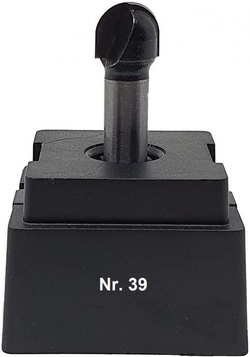 NR 39 / HM - Oberfräser Hohlkehlfräser Z=2 D= 12,0mm Radius 6,0mm Schaft 8,0 x 32mm