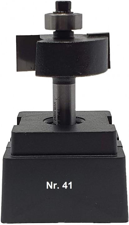 NR 41 / HM - Oberfräser Falzfräser Z=2 D= 32,0mm mit Kugellager 9,5mm Schaft 8,0 x 32mm
