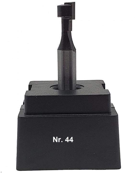 NR 44 / HM - Oberfräser T-Nutenfräser Z= 1 D1= 8,5x7,0 mm / D2= 5,6x4,5mm für Sechskantschraube M5, Schaft 8,0 x 32mm