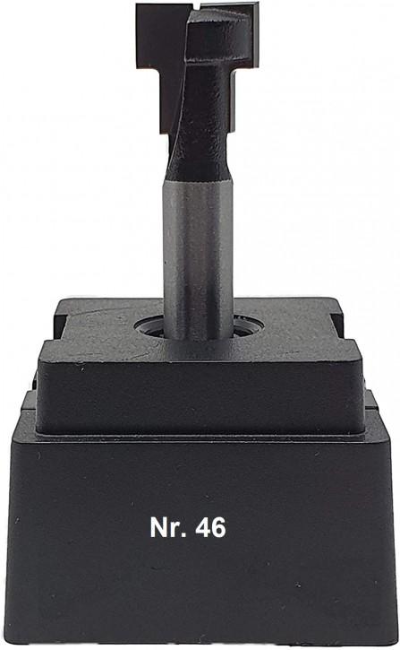 NR 46 / HM - Oberfräser T-Nutenfräser Z= 2 D1= 13,5x7,0 mm / D2= 8,6x7,0mm für Sechskantschraube M8, Schaft 8,0 x 32mm