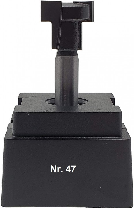 NR 47 / HM - Oberfräser T-Nutenfräser Z= 2 D1= 17,5x7,0 mm / D2= 10,6x8,5mm für Sechskantschraube M10, Schaft 8,0 x 32mm
