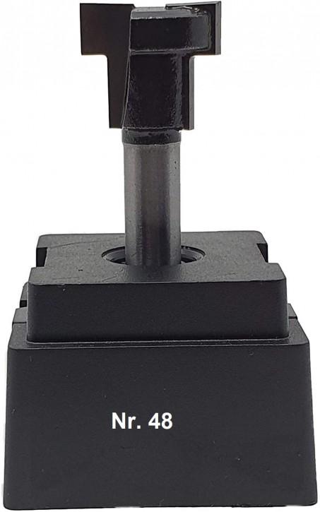 NR 48 / HM - Oberfräser T-Nutenfräser Z= 2 D1= 19,5x7,0 mm / D2= 12,6x9,5mm für Sechskantschraube M12, Schaft 8,0 x 32mm