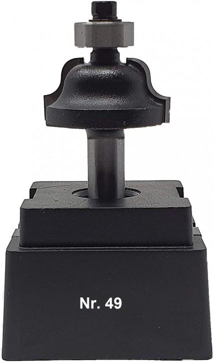 NR 49 / HM - Oberfräser Römischer Profilfräser Z= 2 D= 28,0mm/Radius 4,0mm, Schaft 8,0 x 32mm