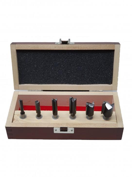 6-teiliges HM Oberfräser Nutfräser Set, Schaft 8,0 mm mit HM Bohrschneide